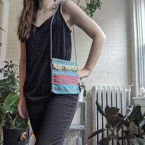 Cute Blue and Pink cross body Purse